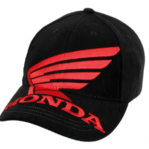 Official Honda Cap | Black with Red Wing and Honda Logo